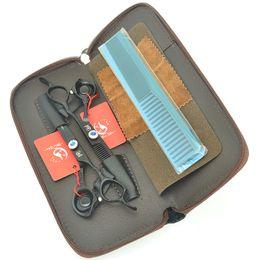 "$enCountryForm.capitalKeyWord Australia - Meisha 6.0"" Painting Hair Cutting Thinning Shears High Quality 9CR Hairdressing Scissors with Diamond Screw Hairdressers Tijeras Kits HA0407"