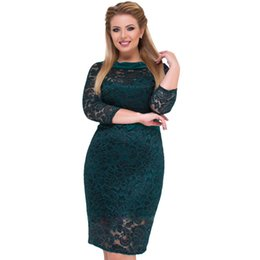 b5defb983df 2018 Lace Dress For Women Women Clothing Fashion Female Dresses Big Size  Elegant green Blue Dress Vestidos Plus Size 5XL 6XL