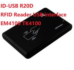 Discount rfid id reader - ID-USB R20D EM4100 RFID Reader USB interface 125KHZ RFID Reader 0-8cm Reading distance HEX Frsit 10numbers 10sets lot Fr