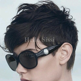 $enCountryForm.capitalKeyWord Australia - Hot Sell Cheap Pixie Cut Human Very Short Hair Wigs With Bangs Top Brazilian Human Wigs Hair For Africa Americans