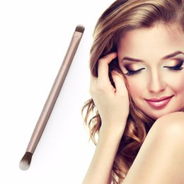 metal double ended 2019 - Gold Soft Synthetic Hair Metal Handle Doubled Ended Eyeshadow Eye Shadow Brush Cosmetics Makeup Brushes Make up Brush To