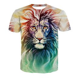 Women tiger design shirt online shopping - New Design D Graffic Lion Tiger Printing Men Women Unisex Polyester T shirt Tees Cool Tops XL