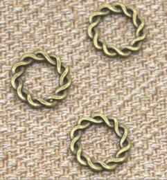 Pendant Connector Rings Australia - 15pcs lot twist ring circle Charm Antique Tibetan bronze Tone Twist Ring Connector pendant 21mm