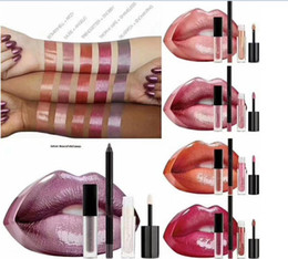 $enCountryForm.capitalKeyWord UK - hot newest Beauty makeup Big mouth set of lip pencil +mini liquid lipstick+mini lipgloss 5 colors with retail box dhl free +gift