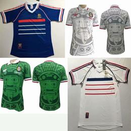5d5e3b77756 1998 world cup FRANCE Mexico retro soccer jerseys home Away1998 zidane  Henry Soccer Jerseys retro football shirts