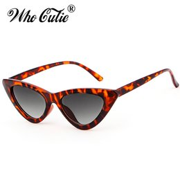 China 2018 Women Bowknot Triangle Cat Eye Sunglasses UV400 Small Narrow Lens Vintage Tortoise Shell Frame Cateye Sun Glasses Retro Shades cheap triangle sunglasses suppliers