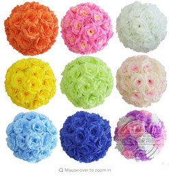 $enCountryForm.capitalKeyWord NZ - Upscale White Artificial Rose Silk Flower Ball Hanging Kissing Balls 30cm 12 Inch Dia Ball For Wedding Party Decoration Supplies
