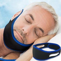 jaw strap UK - New Anti Snoring Chin Strap Neoprene Stop Snoring Chin Strap Support Belt Anti Apnea Jaw Solution Sleep Device Snoring Cessation