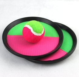 $enCountryForm.capitalKeyWord Australia - New Creative Sticky Ball Toys Sticky Target Racket Indoor and Outdoor Fun Sports Parent-Child Interactive Throw and Catch Ball Games C3951