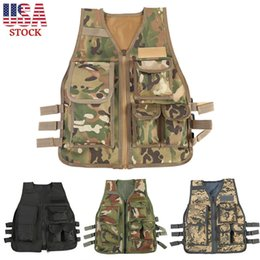 TacTical war games online shopping - Kids Camo Tactical Vest Outdoor War Game CS Equipment Army Camouflage Military Protective Waistcoat Outdoor Sport Adult Colors AAA99