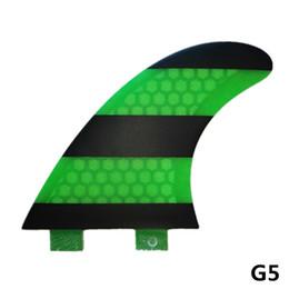 MOYLOR FCS G5 Aileron de surf pour surf Tri Set Fibre de Verre Miel Comb Tail Rudder Foil Plat F
