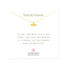 Spirit Pendants Australia - Dogeared Choker Necklaces With Card Gold Silver Dragonfly Pendant Necklace For Fashion Women Jewelry FREE SPIRIT