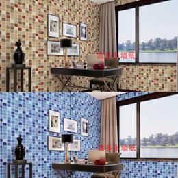 Tiling Mosaics NZ - 45x300cm PVC Wall Sticker Bathroom Waterproof Self adhesive Wallpaper Kitchen Mosaic Tile Stickers Walls Decal Home Decoration