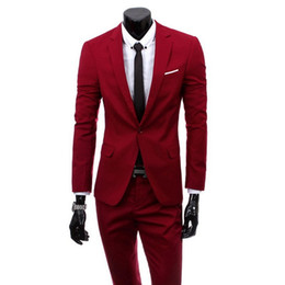 Chinese  NIBESSER Brand Two Pieces Suit Men Fashion Solid Mens Wedding Formal Suits Casual Business Suits&Blazer Plus Size Male Clothes manufacturers