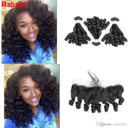 $enCountryForm.capitalKeyWord Australia - Raw Indian Remy Funmi Curls Human Hair Bundles with Frontal Rabake Brazilian Peruvian Malaysian Aunty Funmi Hair Extensions Double Wefts