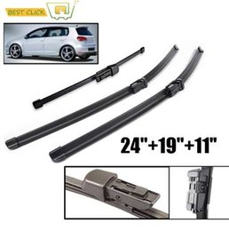 Wholesale Misima Wiper Blades For VW Golf Nature Rubber Front And Rear Windscreen Wipers Car Accessories Glasses Brushes