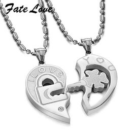 $enCountryForm.capitalKeyWord Australia - Fate Love New Fashion Top Quality heart-shaped titanium steel jewelry heart to heart pendant for couples love Gift Jewelry FL553