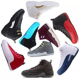 Man Basketball Shoes Sneaker 12 12s Nigeria Gym Red Barons Wolf Grey French Blue 2018 Sports Toddlers Birthday Gift Drop Shipping NZ5392
