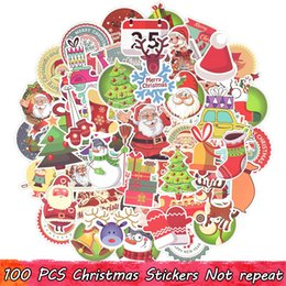 smallest windows pc 2019 - 100 PCS Merry Christmas Stickers Christmas Trees Santa Claus Elk Decals for Home Christmas Party Decor Window Snowboard