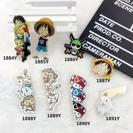Discount clothes japan - Cartoon Comics Rabbit Acrylic Brooch For Clothes Pin Badges On Backpack One Piece Women Men Japan Harajuku Lable Pins Je