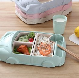 $enCountryForm.capitalKeyWord NZ - Cartoon Car Dinnerware Set ood Containers Bamboo Fiber Infant Training Dishes Baby feeding Set Bowl Cup Plates Sets Camp Kitchen OOA5754