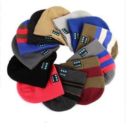 Bluetooth golf hat online shopping - Soft Warm Beanie Hat Wireless Bluetooth Smart Cap Headset Headphone Speaker Mic ski hat cap Music Smart Caps KKA6014