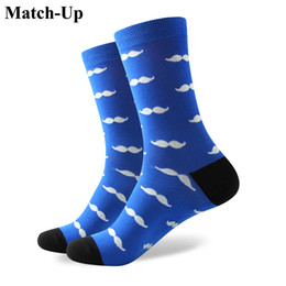 Size Socks Canada - 2016 Men's combed cotton brand men socks,colorful mustache socks,free for shipping,US size (7.5-12) 326