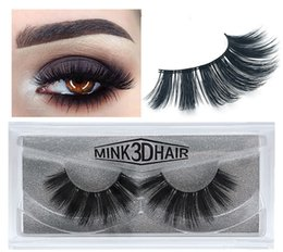 Wholesale 1 Pair box d Mink lashes Fur Eyelashes Thick real mink Hair false eyelashes natural for Beauty Makeup Extension fake Eyelashes false lashes
