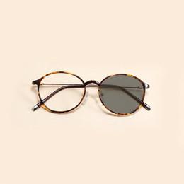 a32ac1b57b Ultra-light thin plastic steel tr90 glasses frame men and women retro large  round light-induced gray lens JW