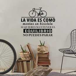 $enCountryForm.capitalKeyWord NZ - Inspirational Spanish Quotes Life is Like Riding a Bicycle Art Wall Stickers Living Room Home Decoration Bedroom Vinyl Decals