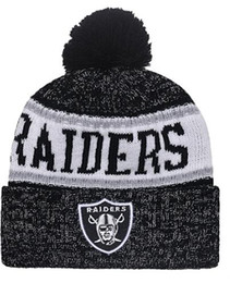 ad94ea77d95953 2019 Oakland Beanie Sideline Cold Weather Graphite Official Revers Sport  Knit Hat All Team winter Warm Knitted Wool Skull Cap 1000+00