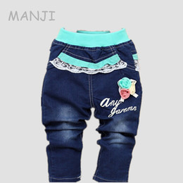 60a1c9fc09c Years Old Girl Jeans UK - Baby girls jeans 2017 Spring new fashion flower  girl clothes