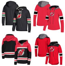 Red devil hoodie online shopping - New Jersey Devils Hoodie Jersey Nico Hischier Taylor Hall Travis Zajac Schneider Palmieri Butcher Kinkaid Wood Stitched Hockey Pullover