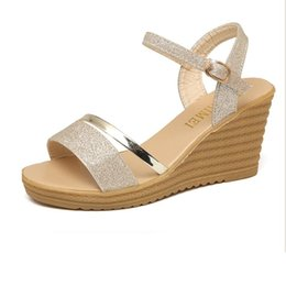 43f28b0989 Sandals Women Gladiator Heels Wedges Shoes for Women Shoes Summer 2018  Ladies Platform Sandals High Heels Sandals Women Sandalias Elegantes