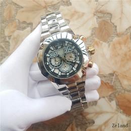 f93d7f41f16 Luxo de seis agulhas replica de relógios marca replica INVICTA GT F1 de  corrida de aço inoxidável relógio de moda masculina AAA branco