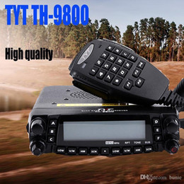 54 Car Australia - Newest Version 26-33 47-54 136-174 400-480 Original Quad band TYT TH9800 Transceiver Dual Display Car Transceiver Walkie talkie