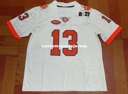 f6110a2bc Cheap custom NEW Clemson Tigers #13 Hunter Renfrow White Football Jersey  Stitched Customize any number name MEN WOMEN YOUTH XS-5XL