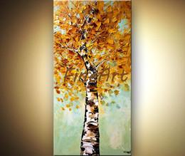 $enCountryForm.capitalKeyWord Australia - hand paint acrylic tree painting wall art on canvas landscape palette knife textured canvas art beautiful abstract art big canvas oil painti