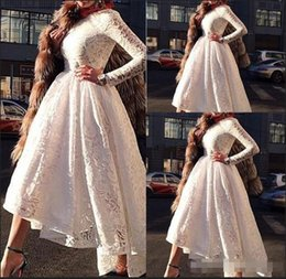 $enCountryForm.capitalKeyWord Australia - Elegant dubai evening party dresses A Line Evening Dresses vestidos de noiva Scoop Neck Long Sleeves Lace Appliques Formal Prom Gowns