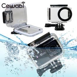 $enCountryForm.capitalKeyWord Australia - wholesale Protective 45m Waterproof Underwater Diving Hard Housing Case Protector For Xiaomi Mijia 4K Camera Cam