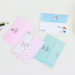 Paper Stationery Cartoon Animals Collection Letter Pad Paper With Envelope 6 Sheets Letter Paper+3 Pcs Envelopes Per Set Writing Paper