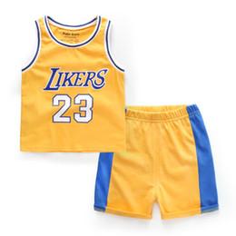 Hot Summer Baby Boy Clothes Sets Sports Childrens Clothing Boys Basketball  Team Vest Shirt Shorts Suit Baby Boys Football Kits Fashion ccd995b999a6