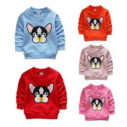 cartoon crew neck sweatshirts 2018 - 2018 New Spring Autumn Children Boy Girl Hoodies Sweatshirts Cartoon Dogs Long Sleeve Cotton Crew Neck Sweatshirts Blous