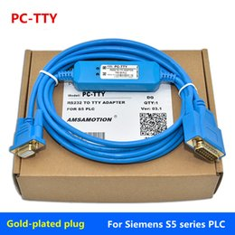 pin programming NZ - Suitable for Siemens S5 series PLC programming cable PC-TTY communication data download line 6ES5734-1BD209 pin female -15 pin male