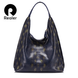 c031d47f70dde Hobo Brand Handbags NZ - Realer brand women handbag genuine leather woman  shoulder bag hobo large
