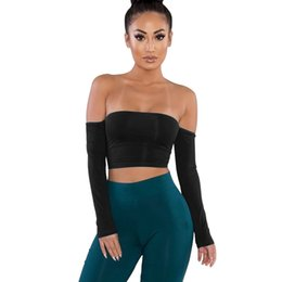 $enCountryForm.capitalKeyWord UK - Summer new fashion women's explosions long-sleeved stitching tie hollow sexy shirt tube top open back solid color tights
