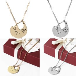 $enCountryForm.capitalKeyWord NZ - Cute Animal Sloth Necklace Gold Silver Alloy Pendant Necklaces Sweet Jewelry For Women Gift Hot Sale