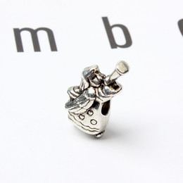 fashion pandora imitation bracelets Canada - Fairy Playing Music Alloy Charm For Pandora Bracelet Snake Chain Or Necklace Fashion Jewelry Loose Bead New Arrival