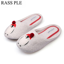 4d83d329dc0 Cute Animal Penguin Pattern Home Slippers Women Indoor Floor Shoes For  Bedroom House Adult Guest Warm Autumn Winter
