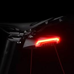 $enCountryForm.capitalKeyWord Australia - Wireless Remote Control Taillights Laser Steering Lights Luz Trasera Bicicleta Usb Charging Seatpost Luz Bicicleta Recargable